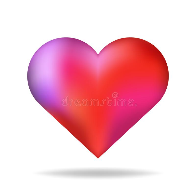shiny 3d vector heart shape red isolated with shadow valentine day rh dreamstime com vector heart shape outline heart shaped wreath vector