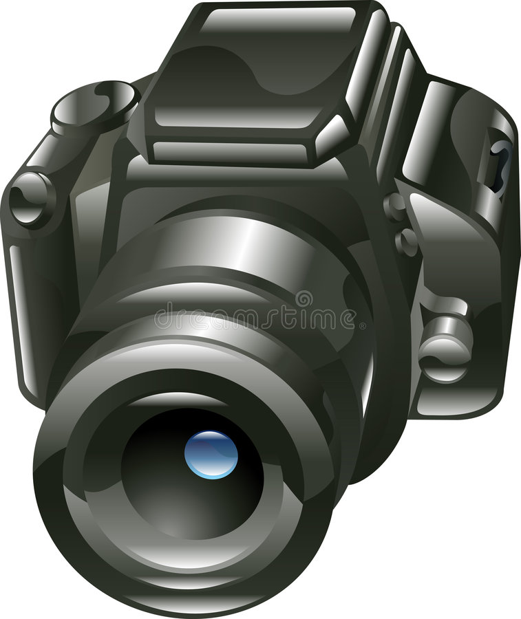 Shiny digital camera illustration vector illustration