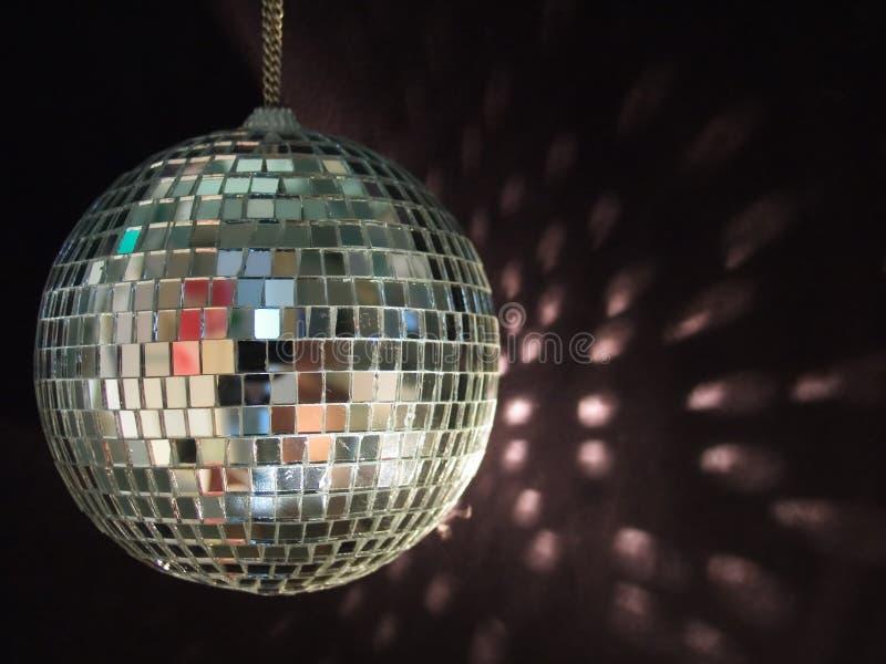 Shiny disco ball reflections stock image