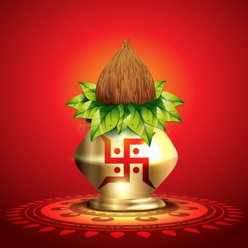Download Shiny diwali kalash stock illustration. Image of beautiful - 26995566