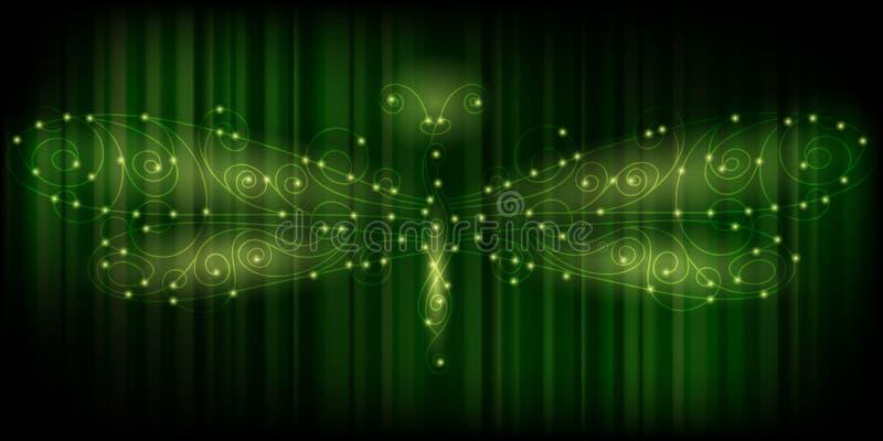 shiny dragonfly, energy concept stock illustration