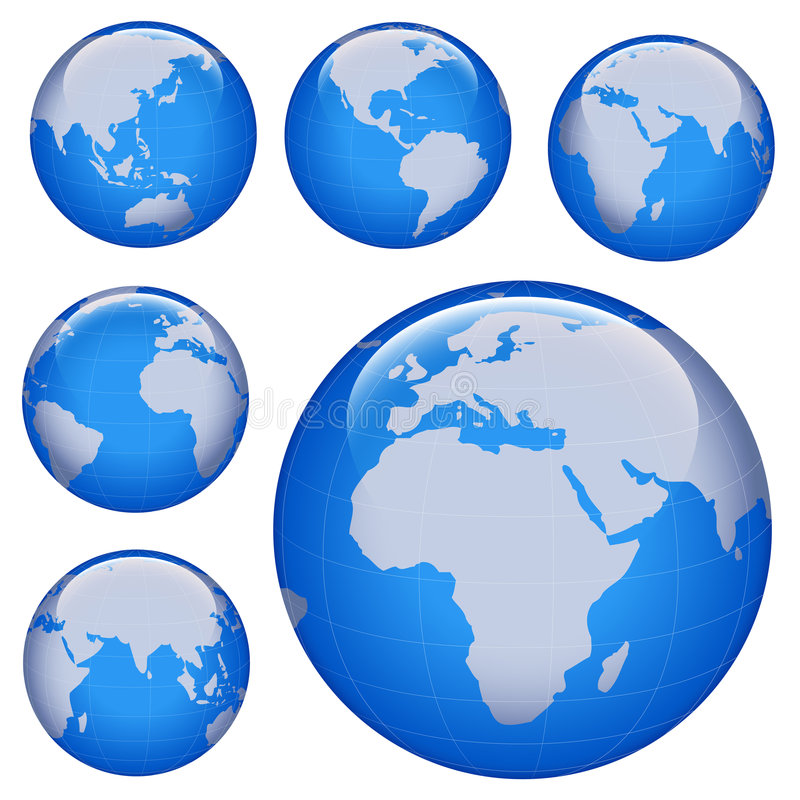 Shiny earth map royalty free illustration