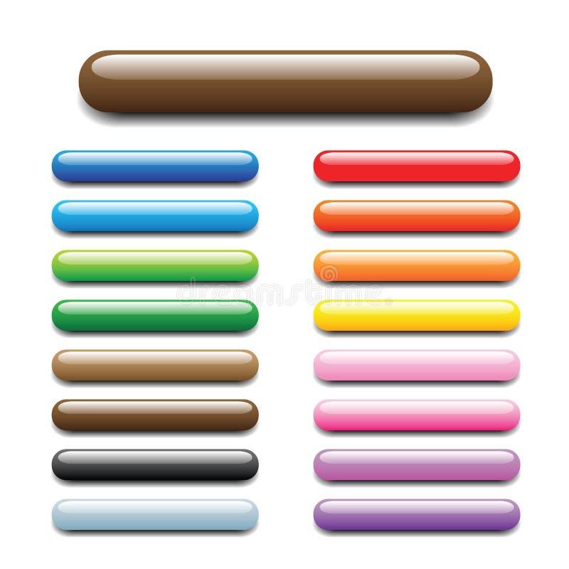 Shiny elongated bar tabs stock illustration