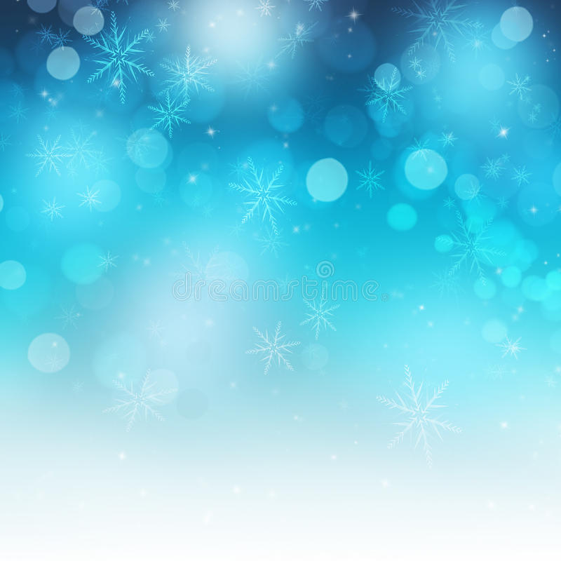 Shiny Festive Snowflakes and Sparkle Christmas Background stock illustration