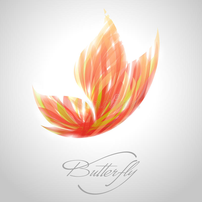 Shiny flying butterfly. Vector illustration. stock illustration