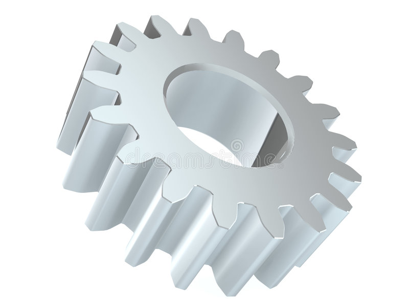 Download Shiny gear stock illustration. Image of industrial, steel - 4840913