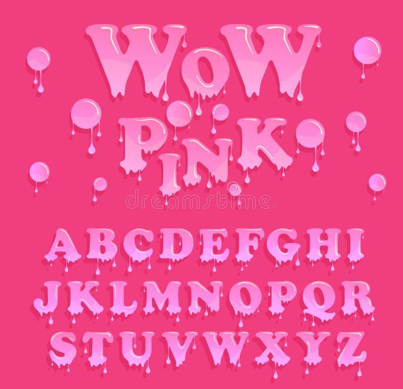 Melting Font Stock Illustrations – 543 Melting Font Stock