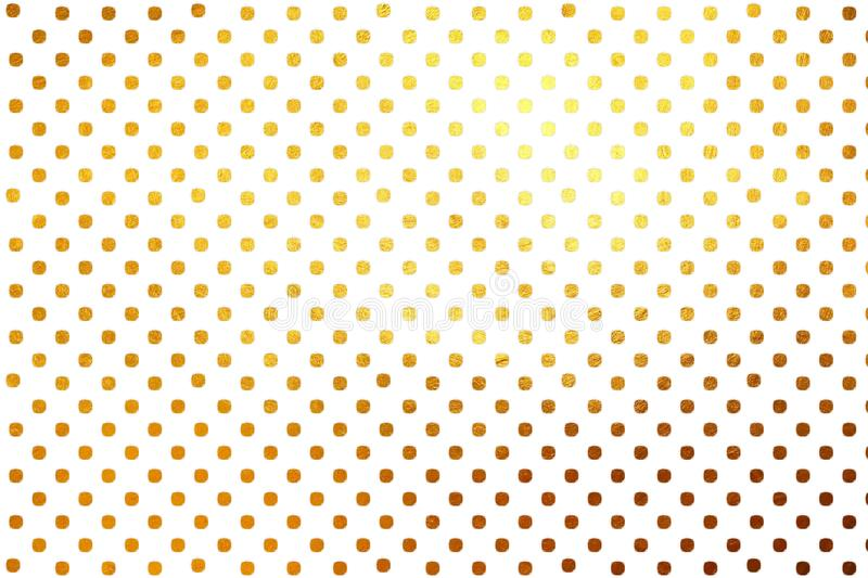 Shinning golden polka dots luxury creative digital abstract texture pattern background. Design element. royalty free stock photography