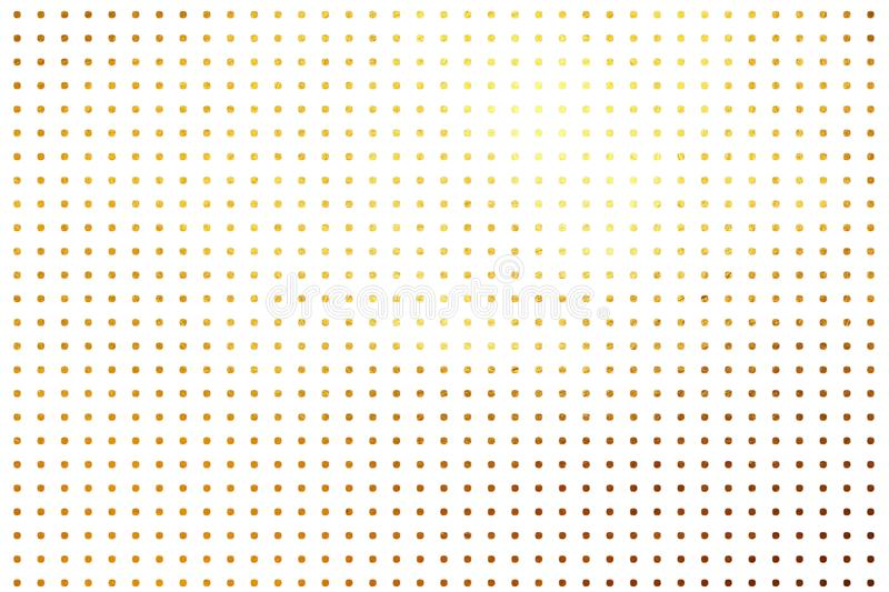 Shinning golden polka dots luxury creative digital abstract texture pattern background. Design element. stock illustration