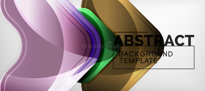 Shiny glossy arrows background, clean modern geometric design, futuristic composition stock illustration