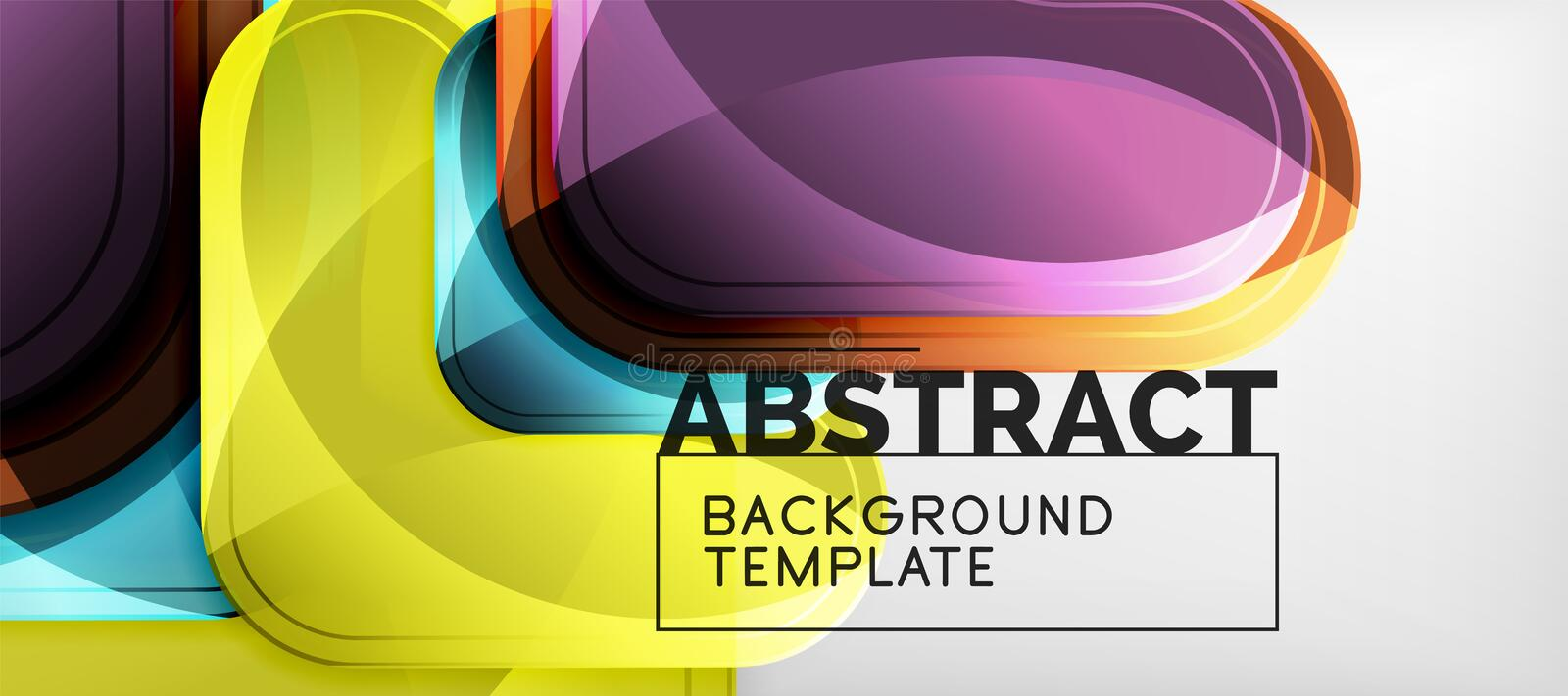 Shiny glossy arrows background, clean modern geometric design, futuristic composition stock illustration