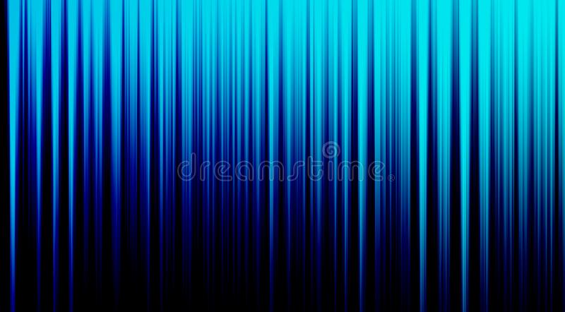 Shiny and glowing light blue abstract verticle lines on dark blue background stock illustration