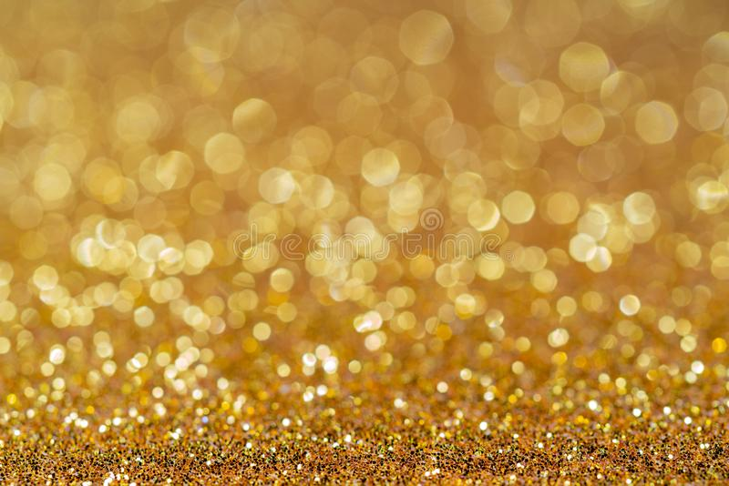 Shiny gold background for holiday design. stock images
