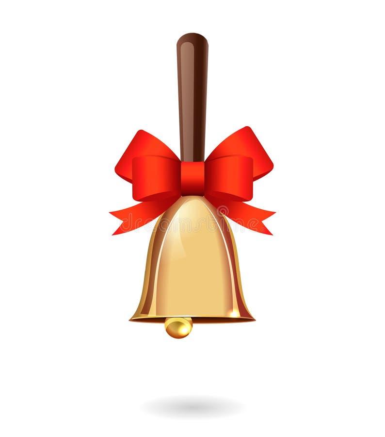 Free Shiny Gold Christmas Bell Royalty Free Stock Photos - 54127138