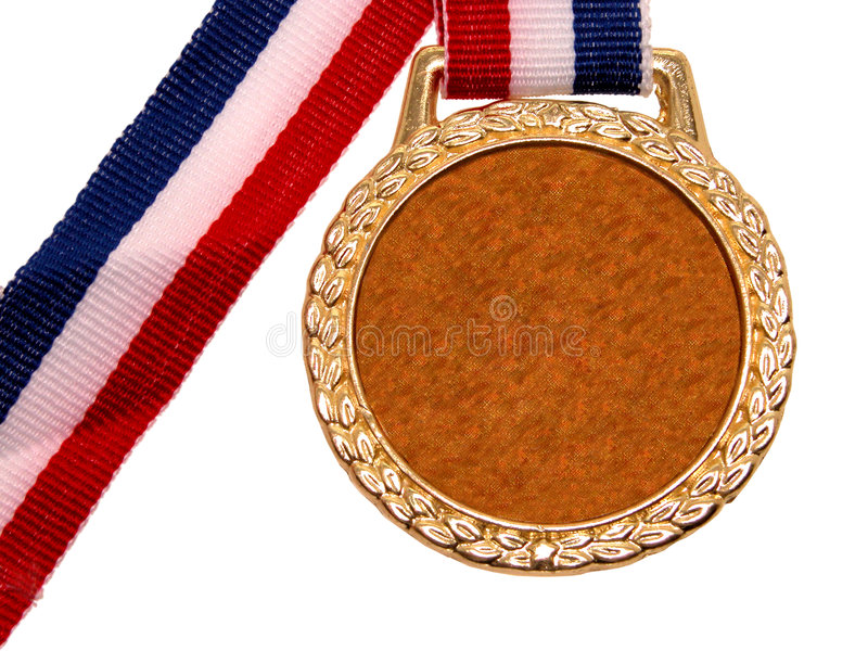 Shiny Gold Medal (1 of 2) royalty free stock photo
