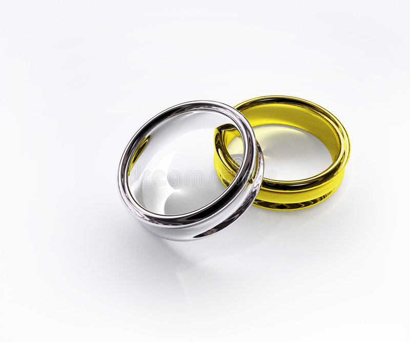 Download Shiny Gold & Silver Ring Isolated Stock Illustration - Image: 2775018