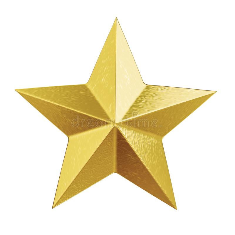 shiny golden christmas star royalty free illustration