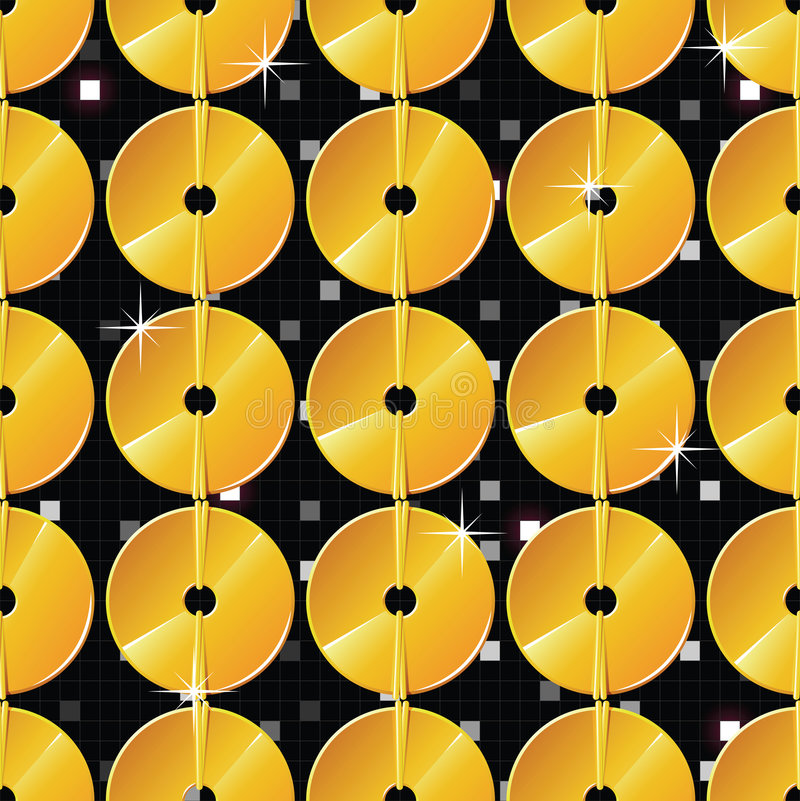 Shiny golden glitters seamless pattern royalty free stock photos