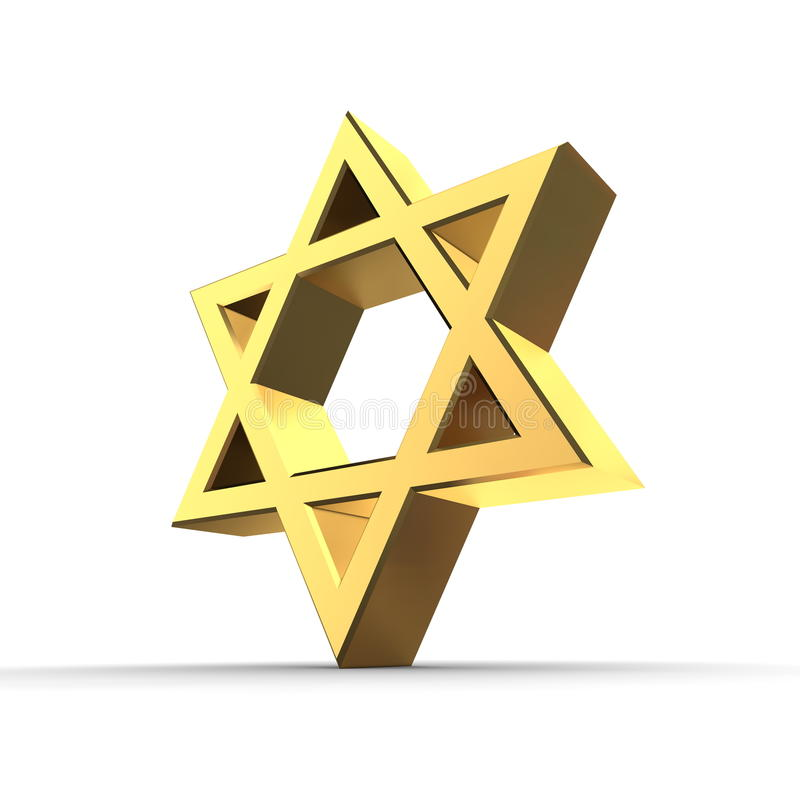 Download Shiny Golden Star of David stock illustration. Image of metallic - 12207866
