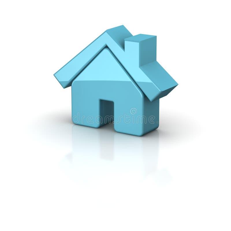 Shiny House Icon Stock Images