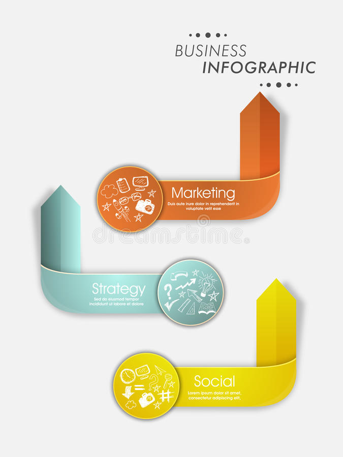 Shiny infographic arrows for Business. Creative shiny infographic arrows made by paper for Business reports and presentation vector illustration