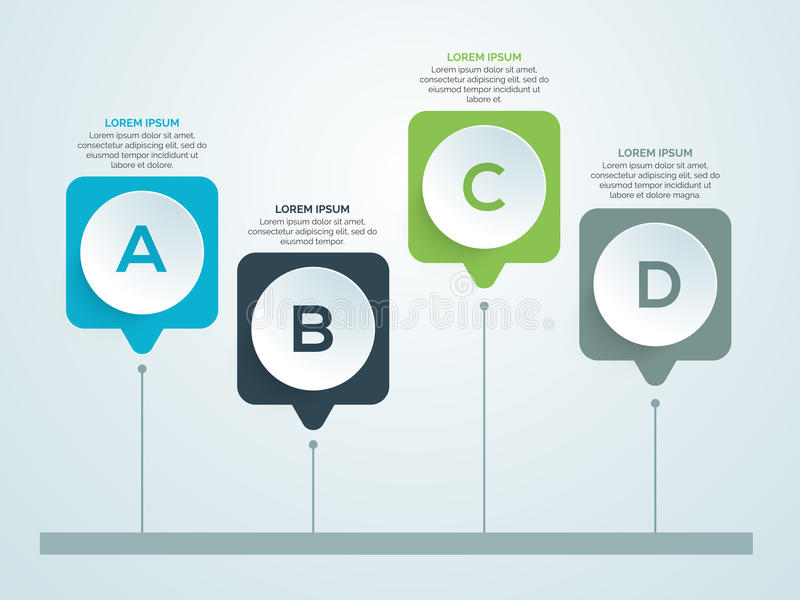 Shiny infographic elements for Business. Creative shiny infographic elements for Business purpose stock illustration