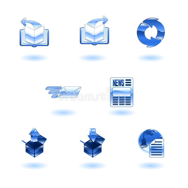Shiny internet browser icon set vector illustration