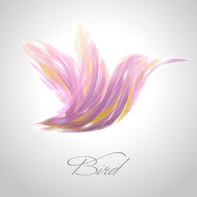 Shiny lavender flying hummingbird.