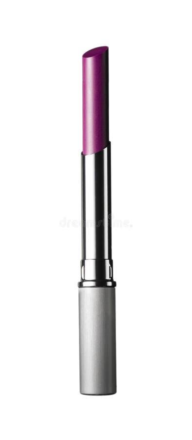 Shiny lipstick. Isolated on white royalty free stock photos