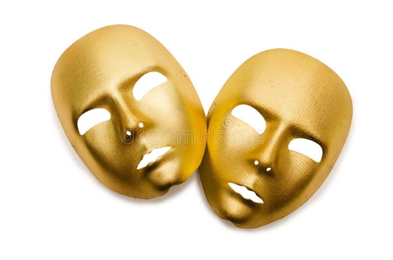 Shiny Masks Isolated Stock Photo