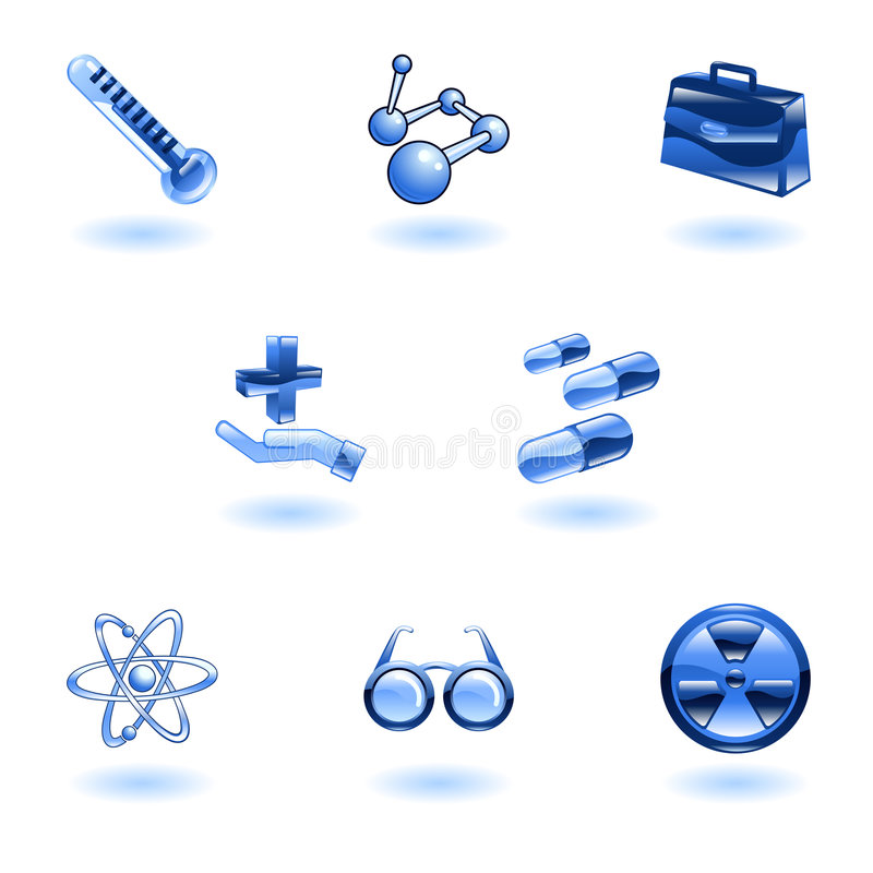 Shiny Medical Icons vector illustration