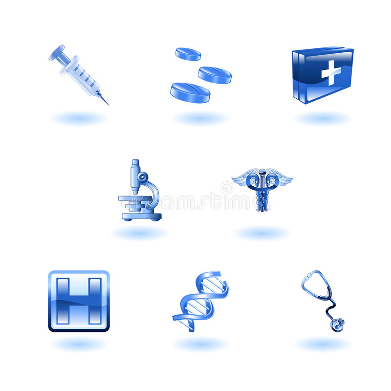 Download Shiny Medical Icons stock vector. Illustration of illustration - 9275036