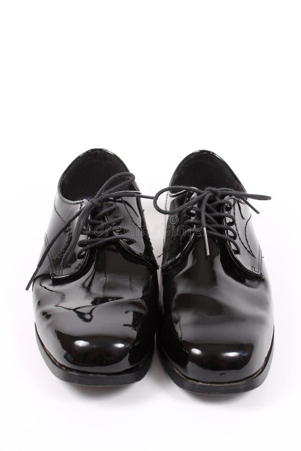 Shiny men's dressy shoes stock image
