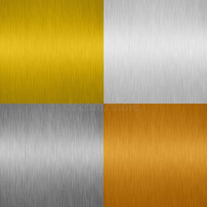Shiny Metal background stock image