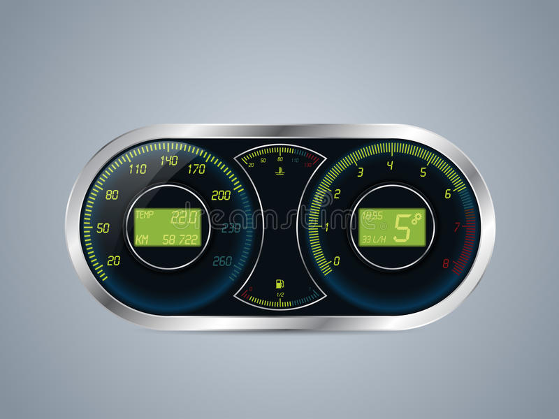 Electric Speedometer Or Tachometer W Odometer Rev Counter