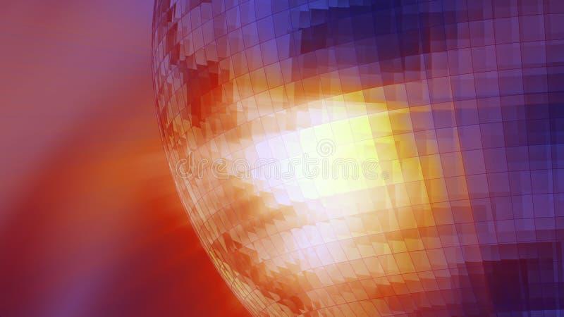 Shiny mirror ball royalty free illustration
