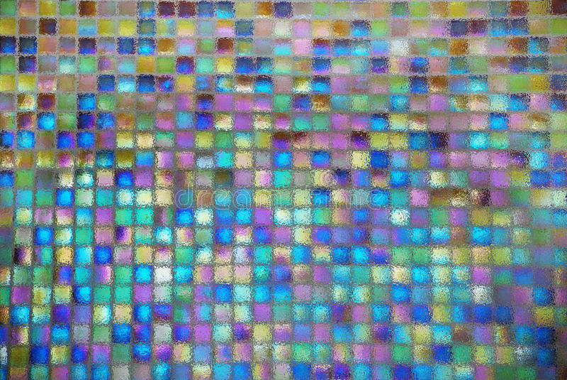 Shiny mosaic. The distorted colorful shiny ceramic tile mosaic background royalty free stock images