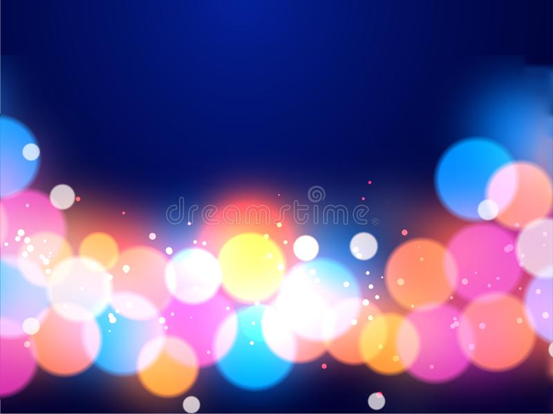 Shiny multi color lighting effect abstract. stock illustration