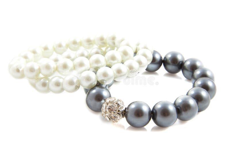 Shiny pearls royalty free stock photo