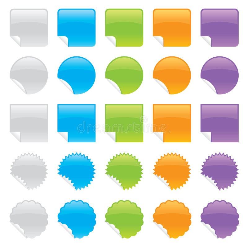 Shiny Peeling Stickers Stock Image