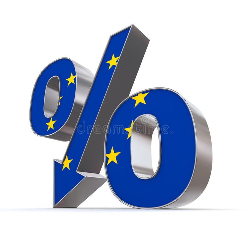 Download Shiny Percentage Down - Flag Of European Union Stock Illustration - Image: 14268097