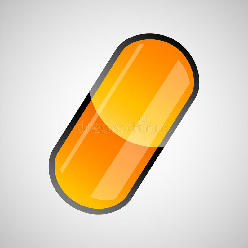 Download Shiny pill capsule stock vector. Image of medicine, drug - 16133650