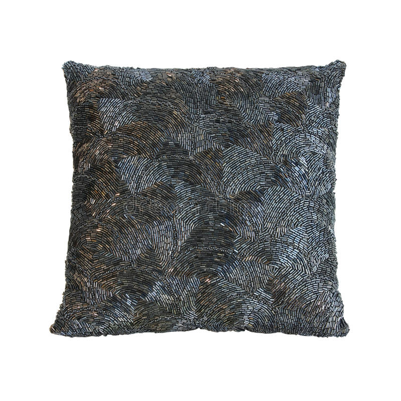 Download Shiny pillow stock image. Image of decoration, grey, decorative - 18239829