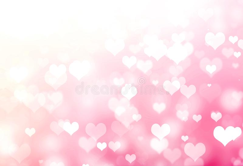 Shiny Pink Heart Valentines Day Background. NHeart Abstract Background royalty free illustration