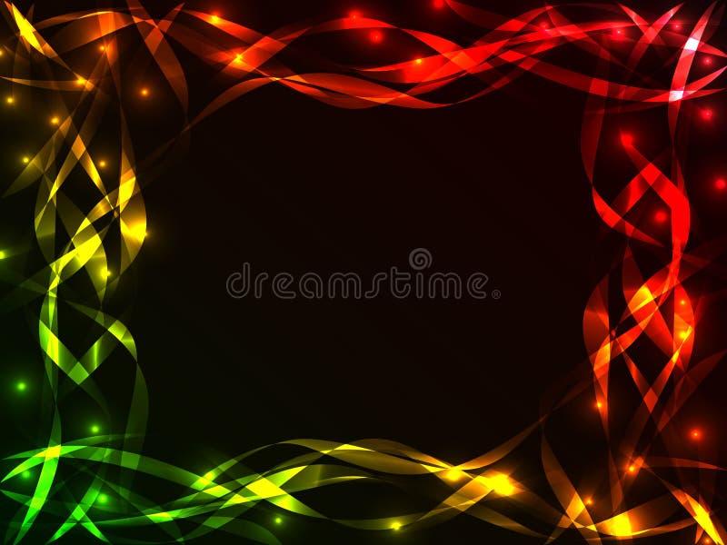 Shiny plasma ribbon frame royalty free illustration