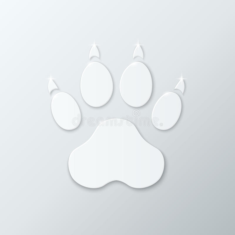 Shiny Plastic Trace of Dog. stock illustration