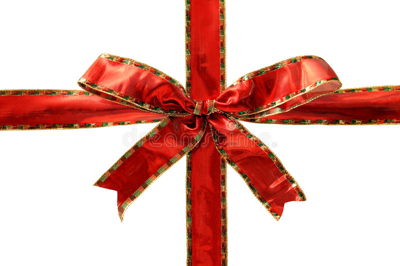 Shiny Red Bow Royalty Free Stock Images