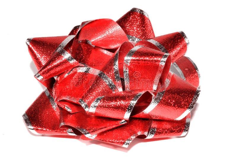Shiny Red Bow royalty free stock photo