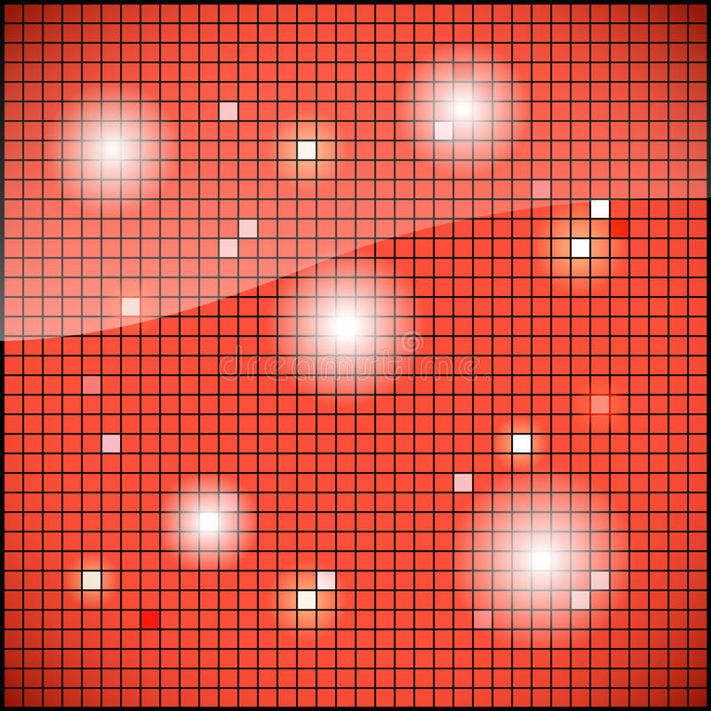 Shiny red mosaic background. Texture - structure vector illustration