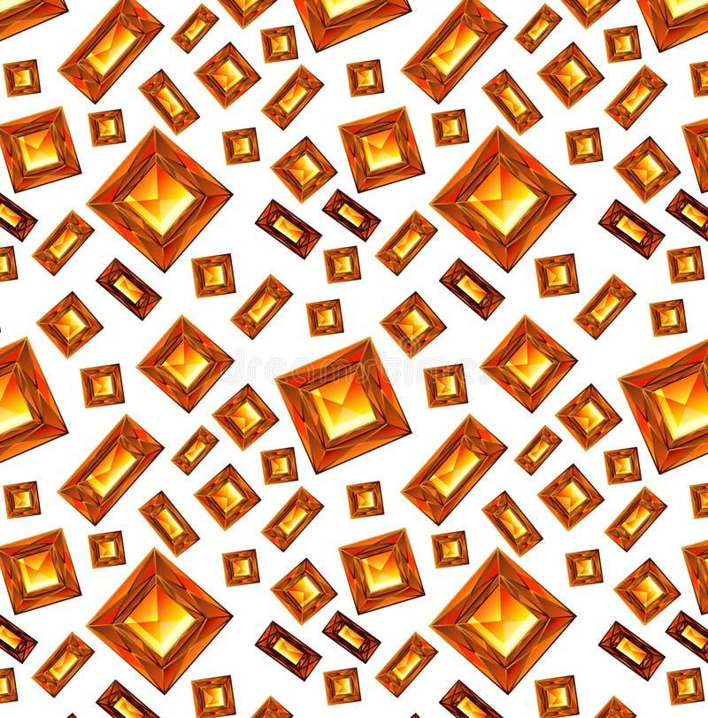 Shiny red ruby hearts on white background seamless pattern. ruby red amber pattern. Shiny red ruby hearts on white background seamless pattern. RGB EPS 10 royalty free illustration